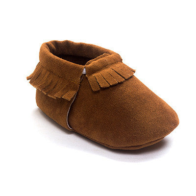 e73fb7ccabf Romirus PU Suede Leather Newborn Baby Boy Girl Baby Moccasins Soft Moccs  Shoes Bebe Fringe Soft Sole Non-slip Footwear Crib Shoe