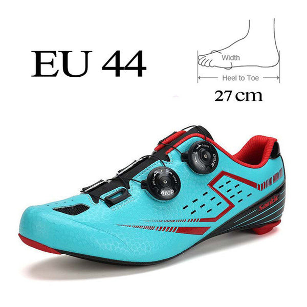 Santic Men Road Cycling Shoes 2017 Carbon Fiber Road Bike Shoes Self-Locking Athletic Bicycle Shoe Sneakers-Sneakers-Enso Store-Blue 44-Enso Store