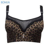 Sexy Full Cup Anti Emptied B C D E Cup Bra Push Up Thin Women's Big Size Underwear Intimates Female Bra-Women's Bras-Enso Store-Black-C-80-Enso Store