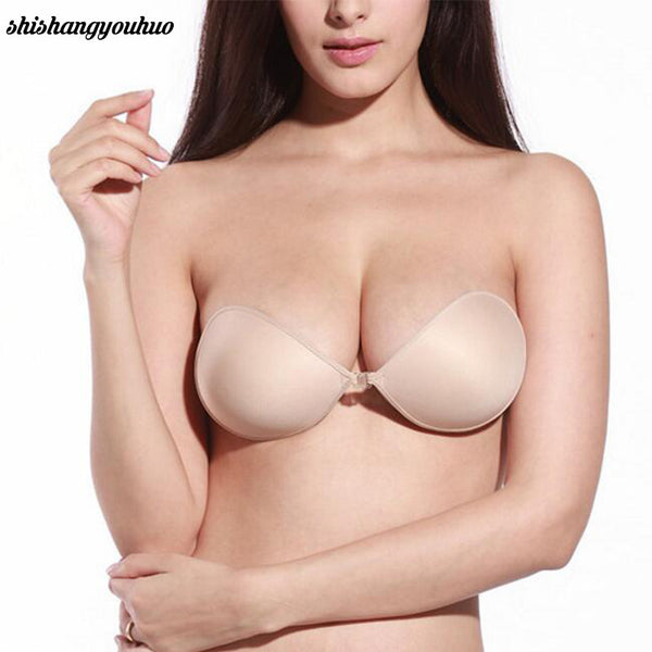Sexy Women Cottton Silicone Bra Adhesive Sticky Breast Strapless Invisible Bras hot sale-Women's Bras-Enso Store-black-A-Enso Store