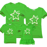 Short-sleeved t-shirt mother and daughter family matching outfits mommy me son look - EnsoStore