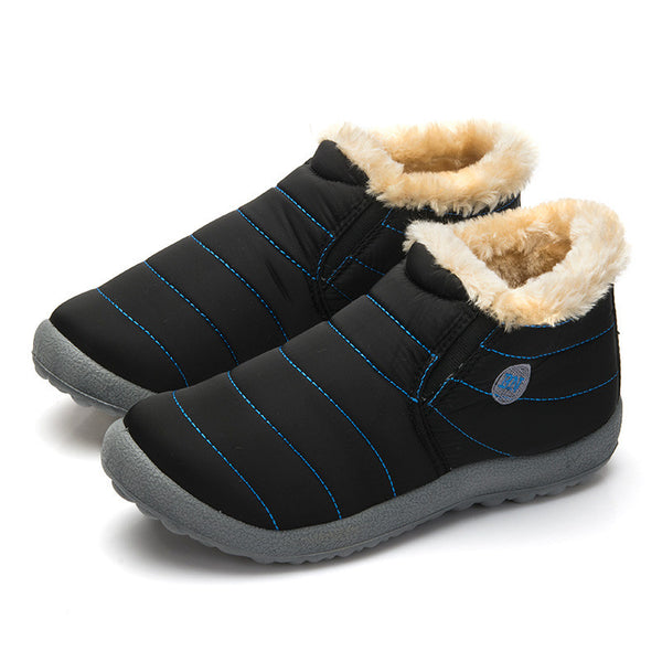 Size35-48 Waterproof Women Winter Shoes Couple Unisex Snow Boots Warm Fur Inside Antiskid Bottom Keep Warm Mother Casual Boots - EnsoStore