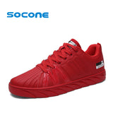 Socone New Arrival Men Skateboarding Shoes Male Lace-up Outdoor Sport Sneakers Classical Lightweight Walking Shoes Zapatillas - EnsoStore