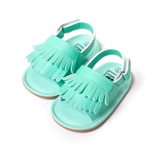 stylish pu leather tassel baby moccasins tassel girls baby shoes Scarpe Neonata hook and loop outdoor shoes hard rubber bottom-Baby Shoes-Enso Store-Model 2-0-6 Months-Enso Store