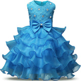 Summer Formal Kids Dress For Girls 2017 Princess Wedding Party Dresses Girl Clothes 6 7 Years Dress Bridesmaid Children Clothing - EnsoStore