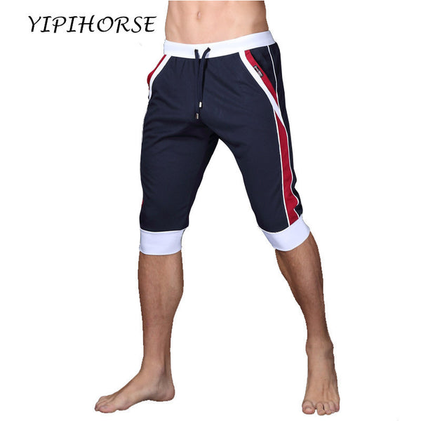 Summer leisure Sporting shorts men trousers elastic brand men shorts Gyms mens fashion quick dry outer wear trousers at home - EnsoStore
