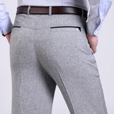 Summer Men Suit Pants Mens Silk Trousers Brand Business Men's Pant Western Style Pants Formal Wedding Party Dresses Size 30-40 - EnsoStore