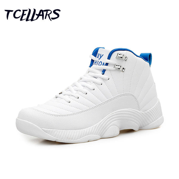 Super hot authentic high-top basketball shoes cheap jordan 12 shoes retro comfortable men shoes outdoor sneakers-Men's Basketball Shoes-Enso Store-white-7-Enso Store