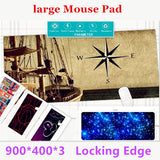 Super Locking Edge large Game Mouse Pad 900*400*3 high quality DIY pictures super big size computer game tablet mouse pad-Enso Store-White-Enso Store