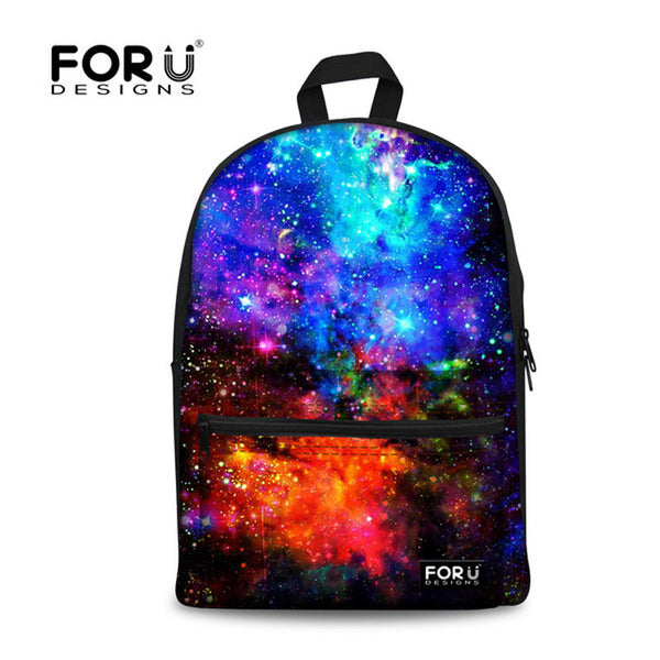 Supreme Multicolor Women Canvas Backpack Stylish Galaxy Star Universe Space Backpack Girls School Backbag Mochila Feminina-Women's Backpacks-Enso Store-C016J1-Enso Store