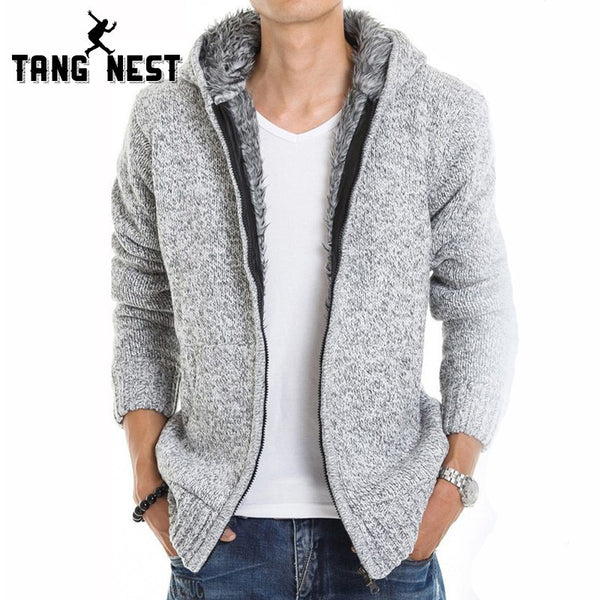 TANGNEST 2017 Fur Inside Thick Autumn & Winter Warm Jackets Hoodies Hodded Men's Casual 5 Color Thick Hot Sale Sweatshirt 179 - EnsoStore