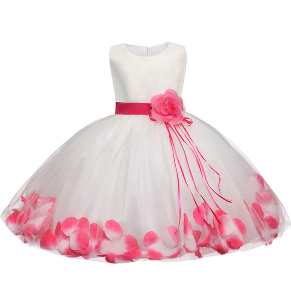 0ab6c010572e Toddler Girl Baptism Dress Christmas Costume Petals Baby Girl Dress ...