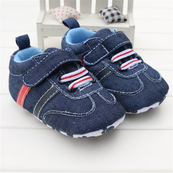 Toddler Infant Baby Boy Shoes Navy Blue Denim Jeans Buckle Strap Casual Newborn Boys Sneaker Soft Sole Girls Shoes Tenis Menino-Baby Shoes-Enso Store-C403-0-6 Months-Enso Store
