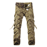 Top quality men military camo cargo pants leisure cotton trousers cmbat camouflage overalls 28-40-Men's Pants-Enso Store-black without belt-28-Enso Store