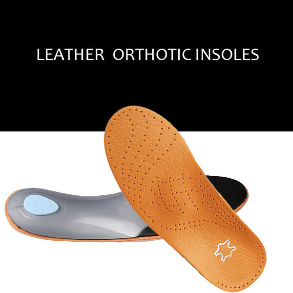 Top Sales 3D Premium Leather orthotics Flat Foot Insole Arch Support Orthotic Silicone Insole antibacterial active carbon 045-Shoe Accessories-Enso Store-35 to 36 235mm-Enso Store