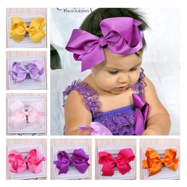 TWDVS Newborn Headwear Big Bows Flower Headband Hair Elastic Bow Headbands Hair band kids Children Hair Accessories W-017-Girls Clothing-Enso Store-as picture 1-Enso Store