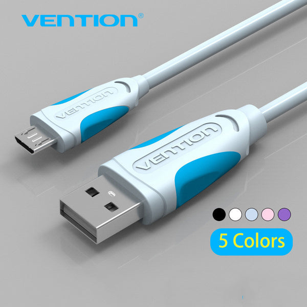 Vention Micro USB Cable Fast Charging line for Android Mobile Phone Data Sync Charger Cable For Samsung HTC LG Sony-Enso Store-China-Black-0.25m-Enso Store