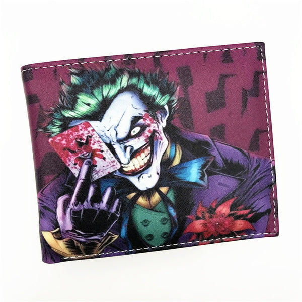Wallet Comics Movies Suicide Squad The Joker Harley Quinn Enchantress And Bat Man Short Wallets With Card Holder Purse-Women's Wallets-Enso Store-The Joker 000-Enso Store