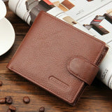 Wallet Men Leather Wallets Male Purse Money Credit Card Holder Genuine Coin Pocket Brand Design Money Billfold Maschio Clutch-Men's Wallets-Enso Store-Coffee-Enso Store