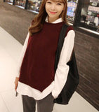 winter and autumn vest waistcoat jacket women sweater loose vest o-neck pullover big yards wool vest female hedging - EnsoStore