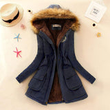 Winter Jacket Women 2017 New Winter Womens Parka Casual Outwear Military Hooded Coat Fur Coats Manteau Femme Woman Clothes A77 - EnsoStore