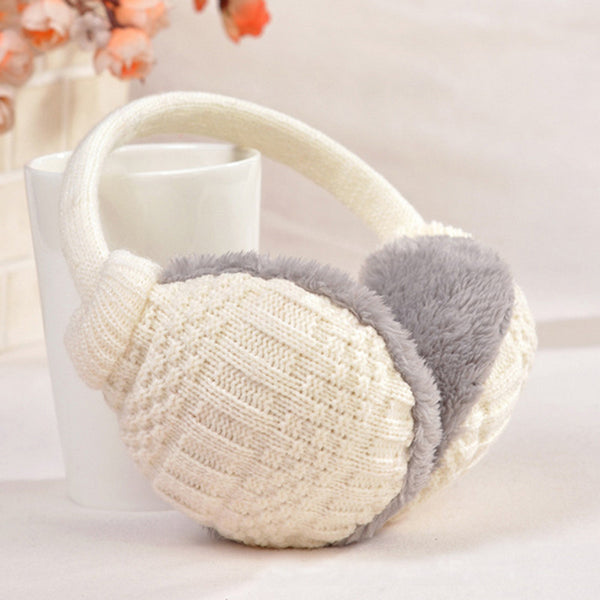 Winter Warm Earmuffs Knitted Children Ear Muffs For Boy Earmuffs For Girls Baby Gift Ear Warmers-Men's Accessories-Enso Store-Pink-Enso Store