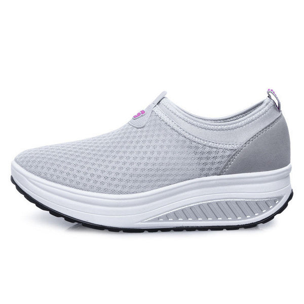 4d10cf1dda ... Women running shoes Breathable Lightweight Lose Weight Platform Walking  Shoes Woman Healthy Fitness Swing rocking shoes ...