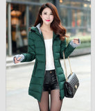 Women's Jacket Winter 2017 New Medium-Long Cotton Parka Plus Size Coat Slim Ladies Casual Clothing Hot Sale-Enso Store-army green-XS-Enso Store