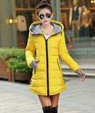 Women's Jacket Winter 2017 New Medium-Long Cotton Parka Plus Size Coat Slim Ladies Casual Clothing Hot Sale-Enso Store-yellow-XS-Enso Store