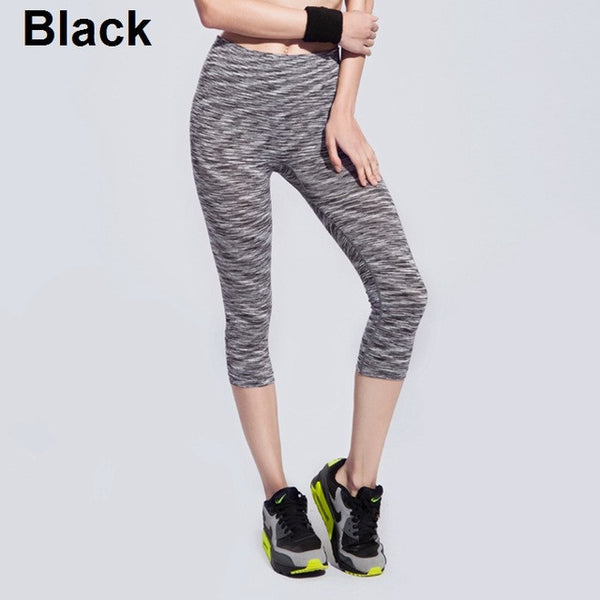 38d7063f7bbf9 Women'S Yoga Pants Spring Summer Satin Dye Fitness Sports Cropped Tight  Breathable Quick Dry 6 Colors