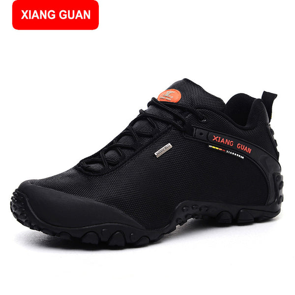 XIANG GUAN 2017 New Men waterproof Boots Martin Ankle Leather outdoor hiking boots Thick Heel Flat shoes 81283 - EnsoStore