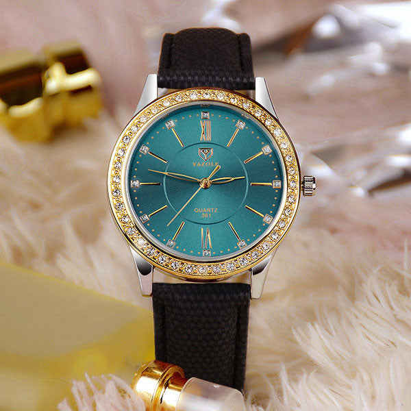 ba8546ad6 YAZOLE Gold Diamond Quartz Watch Women Ladies Famous Brand Luxury Golden  Wrist Watch Female Clock Montre