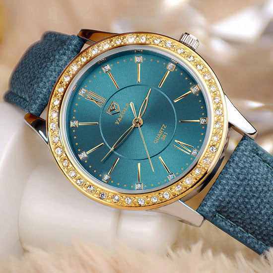 2982e2141 YAZOLE Gold Diamond Quartz Watch Women Ladies Famous Brand Luxury Golden  Wrist Watch Female Clock Montre ...