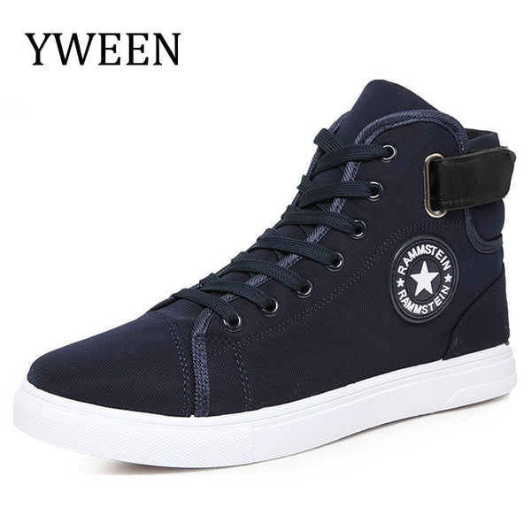 YWEEN Men Canvas Shoes Spring Autumn Top Fashion Lace-up High Style Solid Colors Flat With Youth Oxford Casual Shoes-Men's Vulcanize Shoes-Enso Store-Black-6-Enso Store
