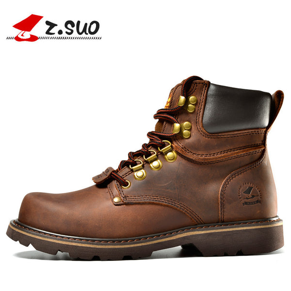 ce2e35cce9b52 Z. Suo men Martin boots Fashion first layer of leather men s boots