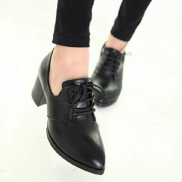 c260d73f ZZPOHE New spring women shoes stylish and comfortable high-heeled shoes  pointed retro lace wild