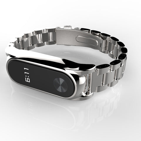 Stainless Steel Metal Strap Smart Bracelet Watch