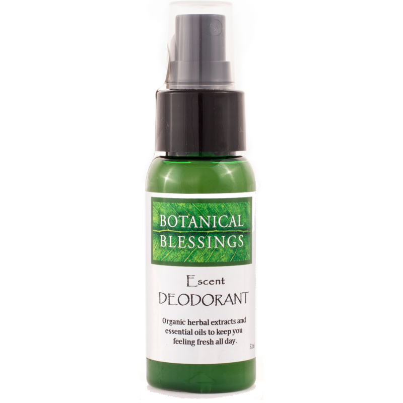 Escent Botanical Blessings natural deodorant