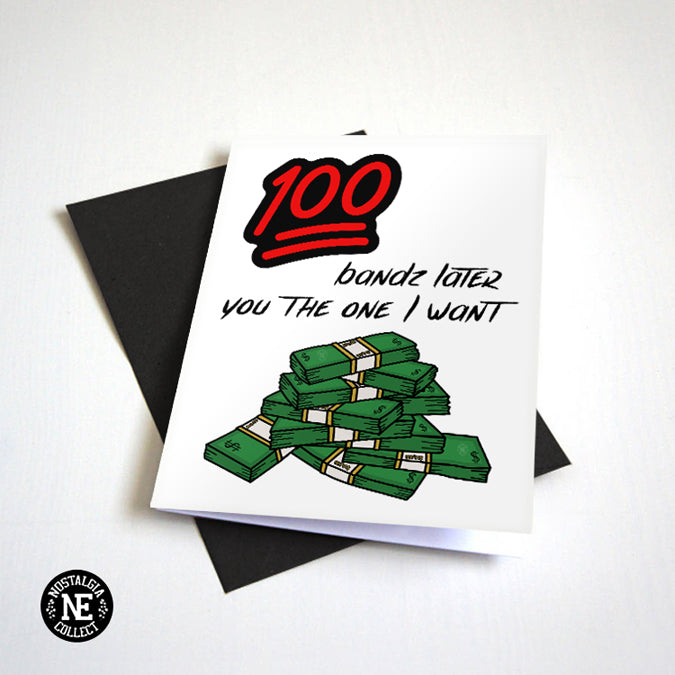 100 Bands Later - Hip Hop Love and Anniversary Card