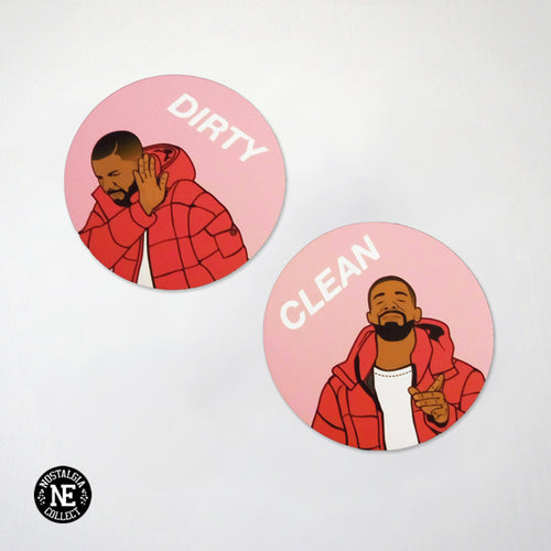 Hotline Meme Dishwasher Magnet Set: Clean and Dirty