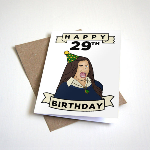 Happy 29th Birthday - Winking Meme Birthday Card