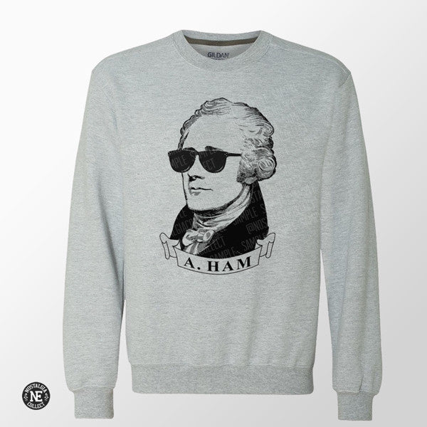 Hamilton Musical Sweater in Grey
