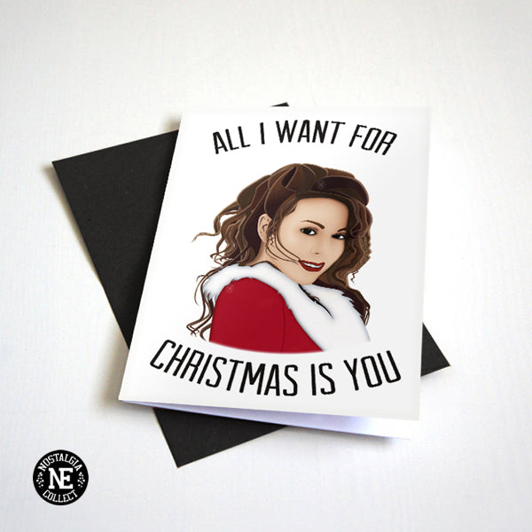 All I Want For Christmas Is You Card - Christmas Card For Boyfriend or Girlfriend