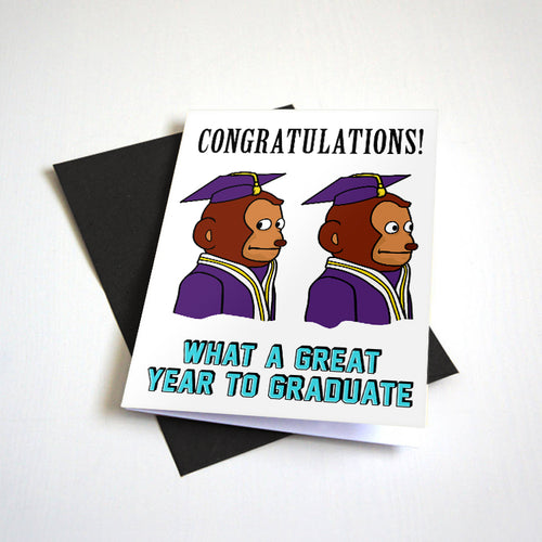 Awkward Look Monkey Meme Graduation Card