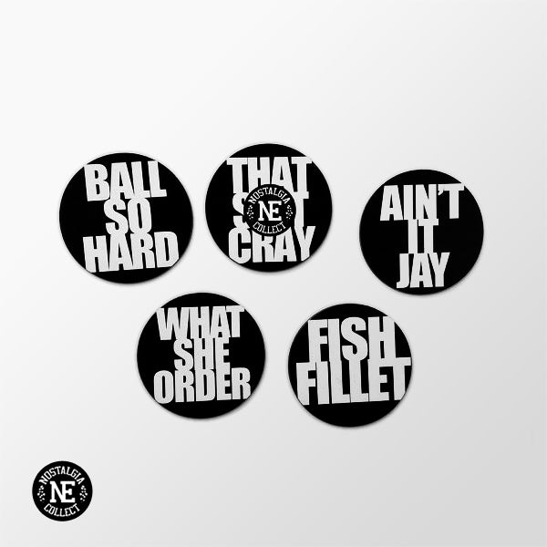 Ballin' in Paris Magnet Set: Ball Hard, What She Order, Fish Fillet