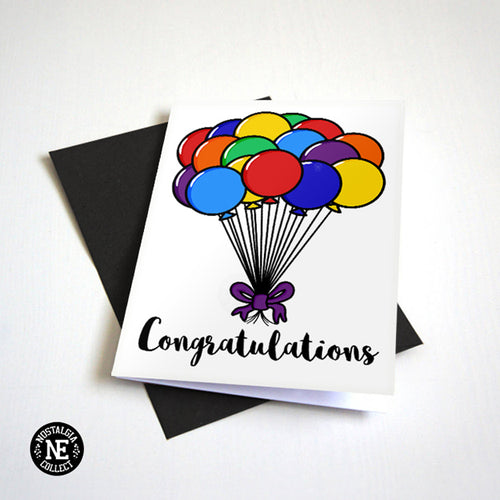 Simple Graduation Card with Balloons