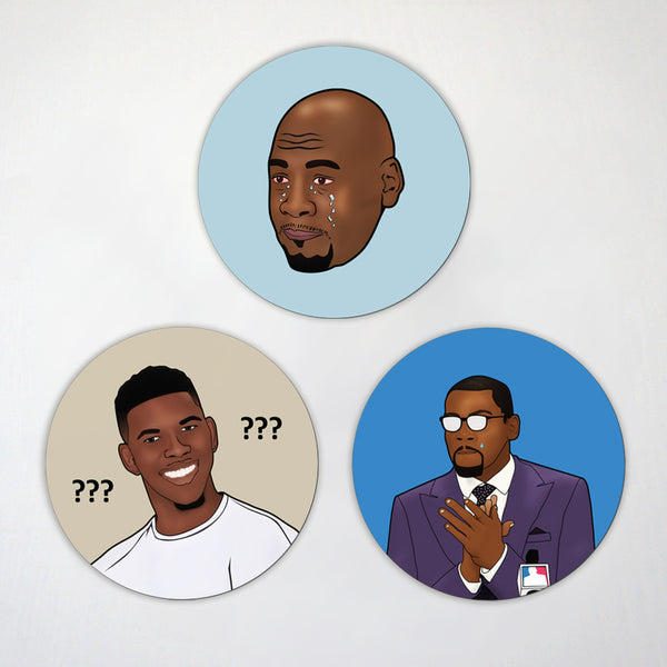 Basketball Memes 3 - Pack Magnet Set - GOAT - Real MVP
