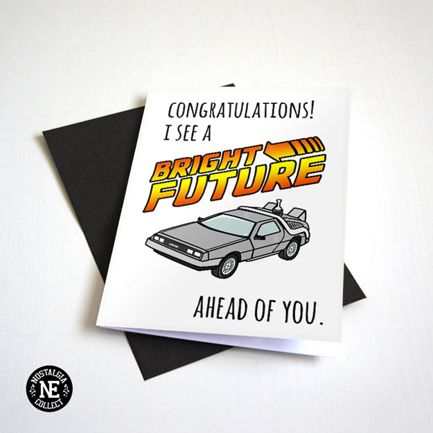 A Bright Future - Retro Graduation Card