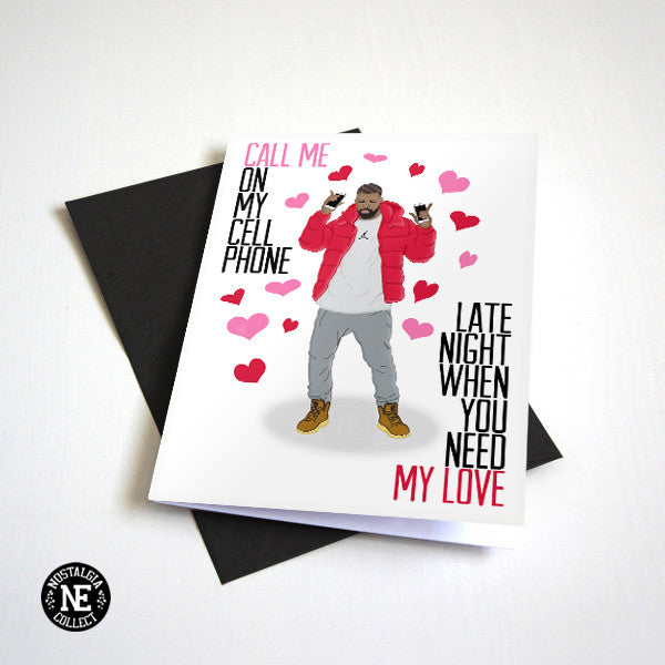 Call Me On My Cellphone - Funny Valentines Day Card