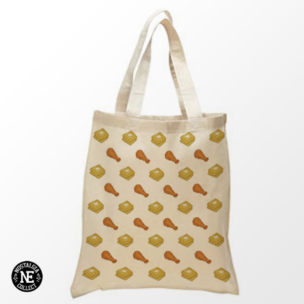 Chicken & Waffles Tote Bag - Shopping Bag
